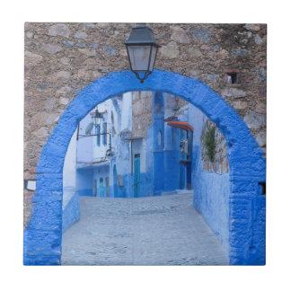 Azulejo De Cerámica Calle estrecha de Chefchaouen