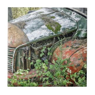 Azulejo De Cerámica Camión abandonado del vintage