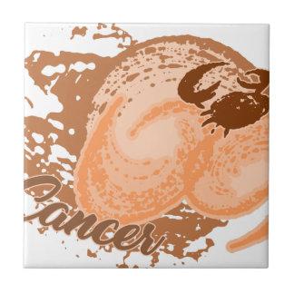 Azulejo De Cerámica Cangrejo anaranjado del horóscopo del cáncer