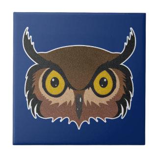 Azulejo De Cerámica Cara del búho