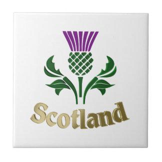 Azulejo De Cerámica Cardo escocés del emblema