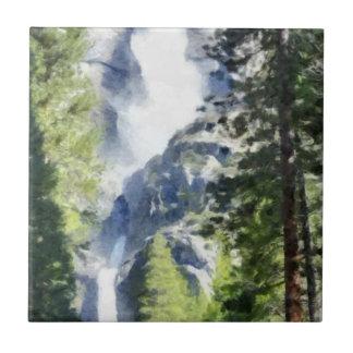 Azulejo De Cerámica Cascada en Yosemite