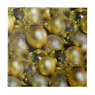 Azulejo De Cerámica Chucherías del navidad del oro