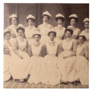 Azulejo De Cerámica circa los diplomados 1914 de escuela de enfermería