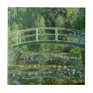 Azulejo De Cerámica Claude Monet - puente japonés