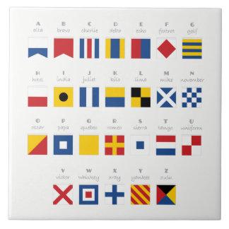 Azulejo De Cerámica Código internacional del alfabeto de las señales