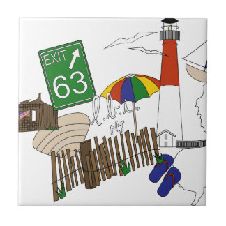 Azulejo De Cerámica Collage del color primario del amor de LBI
