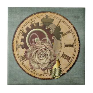 Azulejo De Cerámica Collage del reloj del vintage