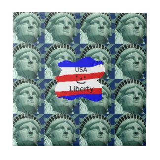 Azulejo De Cerámica Colores de la bandera de los E.E.U.U. con la