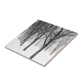 Azulejo De Cerámica como echo a un lado con los árboles