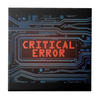 Azulejo De Cerámica Concepto del error crítico