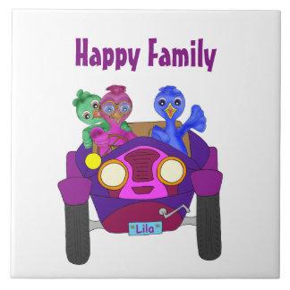 Azulejo De Cerámica Conducción de los niños por los Happy Juul Company