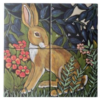 """Azulejo De Cerámica Conejo de las liebres en el jardín 6"""" de cerámica"""