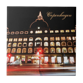 Azulejo De Cerámica Copenhague, Dinamarca en la noche
