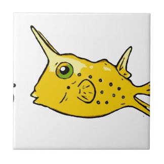Azulejo De Cerámica Cowfish del fonolocalizador de bocinas grandes