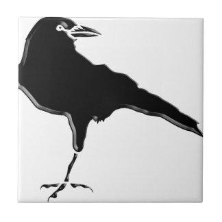 Azulejo De Cerámica Cuervo negro