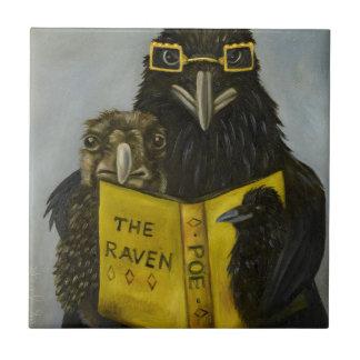 Azulejo De Cerámica Cuervos leídos