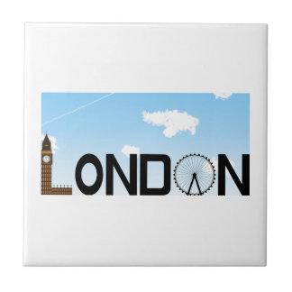Azulejo De Cerámica D3ia del horizonte de Londres
