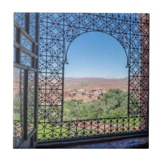 Azulejo De Cerámica Decoración adornada de la ventana