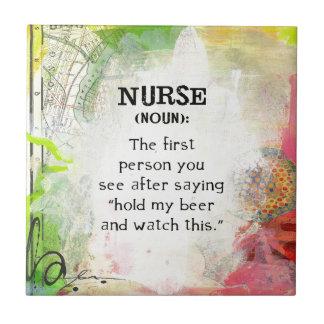 Azulejo De Cerámica Definición de una enfermera