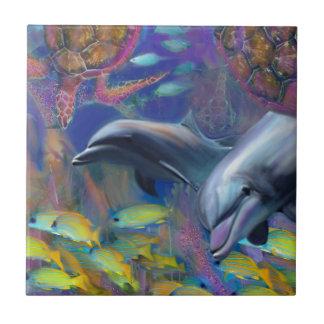 Azulejo De Cerámica Delfínes encantados