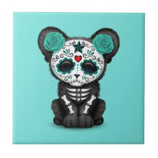 Azulejo De Cerámica Día azul de la pantera negra muerta Cub