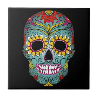 Azulejo De Cerámica Día del cráneo muerto del azúcar