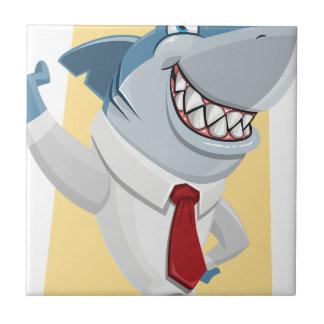 Azulejo De Cerámica dibujo animado del tiburón