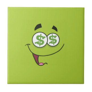 Azulejo De Cerámica Dinero feliz Emoji
