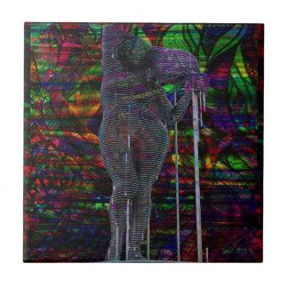 Azulejo De Cerámica Diosa abstracta del acuario