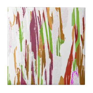 Azulejo De Cerámica Diseño abstracto del chapoteo del arco iris