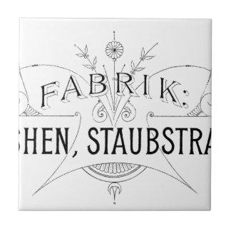 Azulejo De Cerámica diseño alemán de la tipografía del vintage