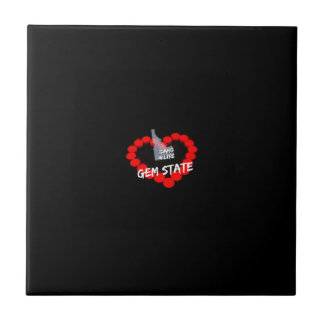 Azulejo De Cerámica Diseño del corazón de la vela para el estado de