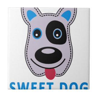 Azulejo De Cerámica diseño dulce del vintage del perro