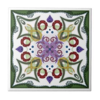 Azulejo De Cerámica Diseño geométrico del espejo del caleidoscopio -