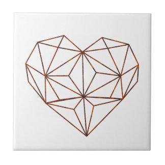 Azulejo De Cerámica diseño moho-geométrico del corazón