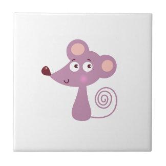 Azulejo De Cerámica Diseño/ratón de los niños en blanco