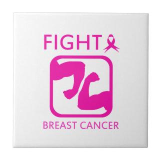 Azulejo De Cerámica Doblar los brazos para luchar el cáncer de pecho