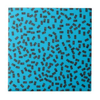 Azulejo De Cerámica Dominós en azul