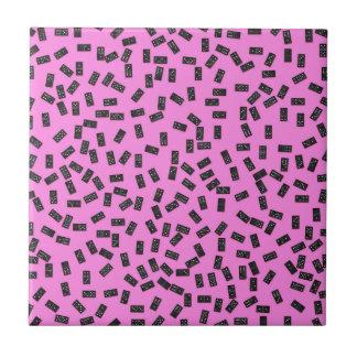 Azulejo De Cerámica Dominós en rosa