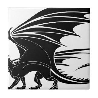 Azulejo De Cerámica Dragón enojado