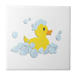 Azulejo De Cerámica Ducky de goma en burbujas
