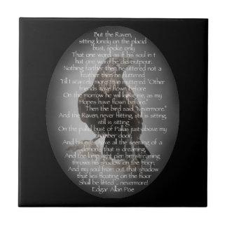 """Azulejo De Cerámica Edgar Allen Poe pájaro del poema de Halloween """"del"""