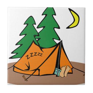 Azulejo De Cerámica El acampar afuera
