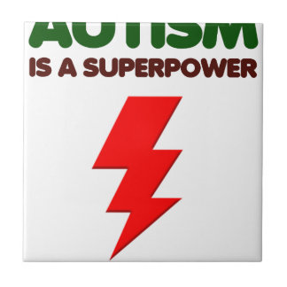 Azulejo De Cerámica El autismo es superpoder, niños, niños, importa de