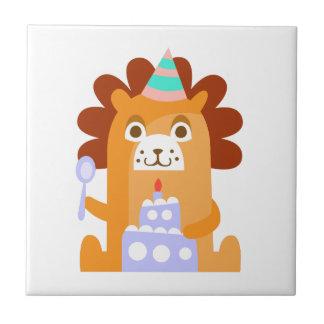 Azulejo De Cerámica El león con el fiesta atribuye enrrollado