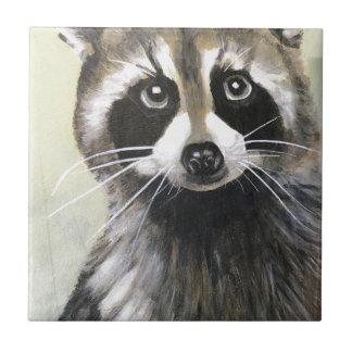 Azulejo De Cerámica El mapache amistoso