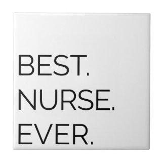 Azulejo De Cerámica El mejor. Enfermera. Nunca