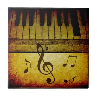 Azulejo De Cerámica El piano cierra el vintage