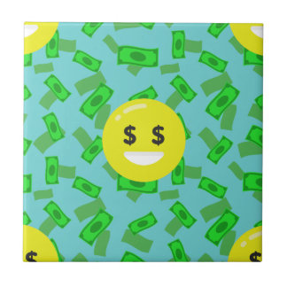 Azulejo De Cerámica emoji observado dinero
